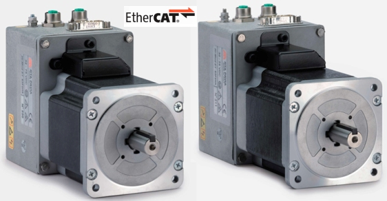 Unique new stepping motors with integrated drives and for Integrated servo motor and drive